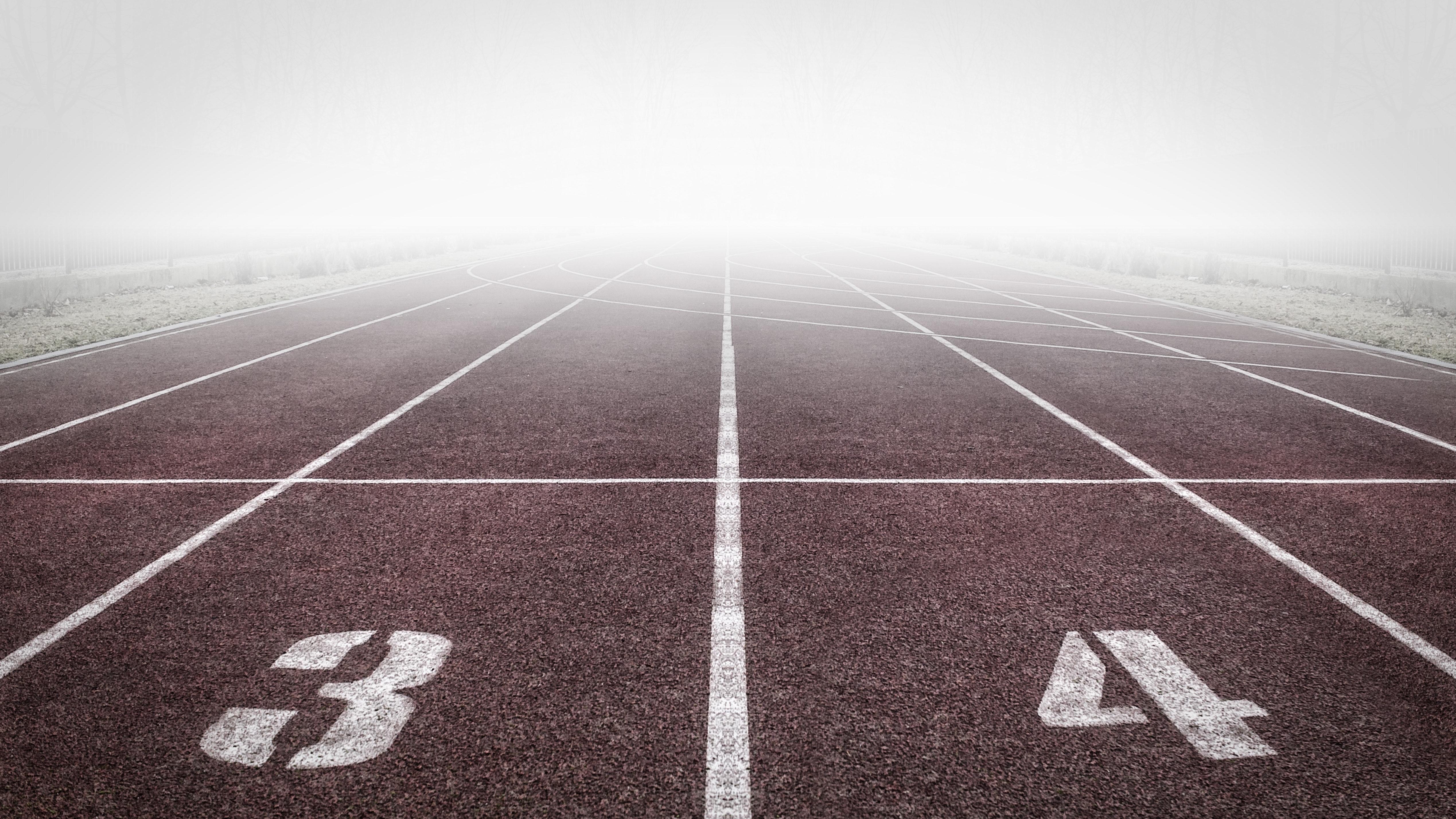 Asphalt running track